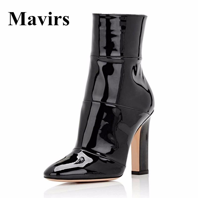 342c63dbb68d Mavirs 2018 Pointed Toe Chunky High Heels Women Ankle Boots Gold Black  White Booties Shoes 12 CM Heels Size 5 15 Skechers Boots Mid Calf Boots  From Beasy111 ...