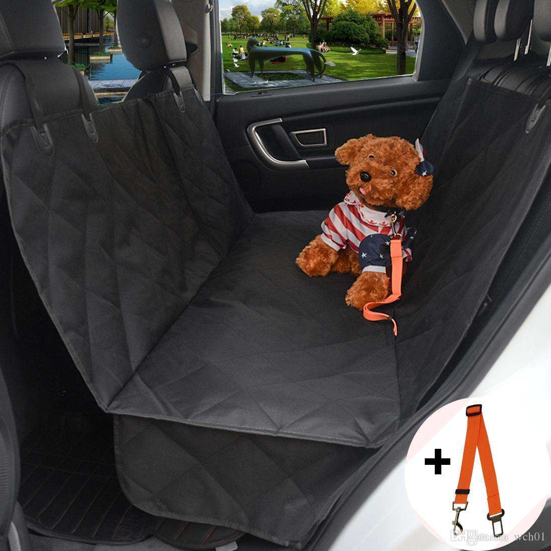 Pet Seat Cover Dog Car Backseat Cover100 Waterproof Luxury Back Hammock For Cars Trucks And SUVs Travel Black Mat Trip