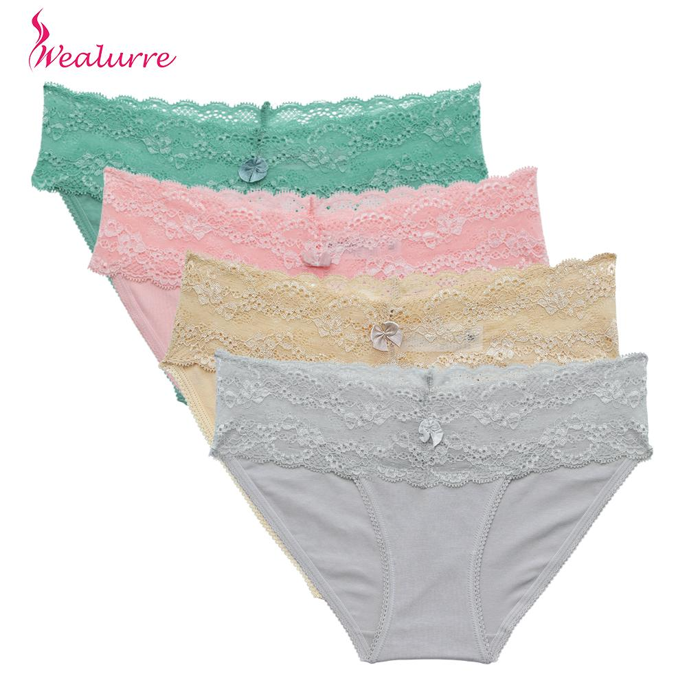 7a1d61447 Acquista Wealurre Women s Sexy Lace Panties Intimo Donna 2019 Seamless  Cotton Slip Traspirante Lingerie Low Rise Sheer Calcinha Renda A  36.32 Dal  Feiyancao ...