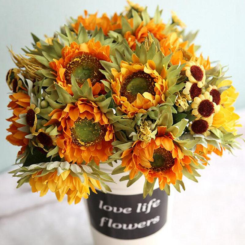 2018 5 heads silk flower sunflower bouquet artificial flowers diy 2018 5 heads silk flower sunflower bouquet artificial flowers diy home party wedding floral decor accessories display fake flower from sheiler mightylinksfo