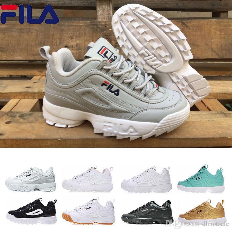 Compre FILA Disruptor 2 II Disruptores Designer II 2 Ouro Branco Triplo  Preto Cinza Rosa Prata Para Mulheres Homens Special Sports Sneaker  Formadores ... ff2bbb814eb43