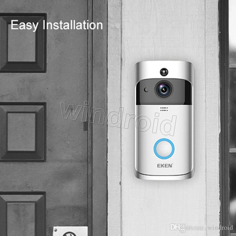 Eken Home Video Campanello senza fili 2 720P HD WiFi Video in tempo reale Video in tempo reale Audio Night Vision Pir Motion Detection con Bells App Control