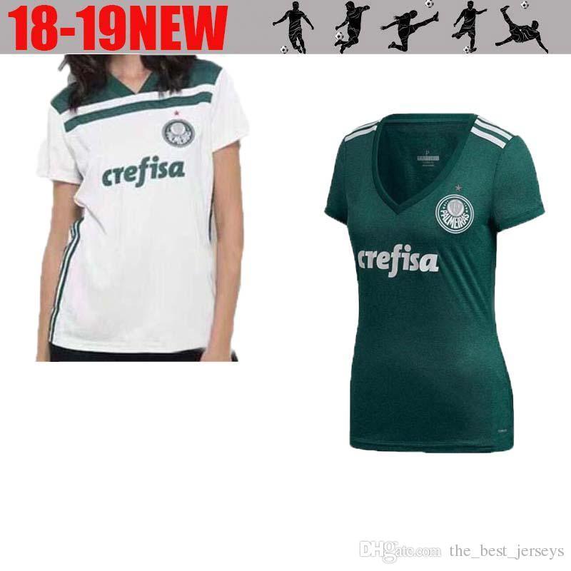 2d2b40bd80 2019 Palmeiras Mujer   10 MOISES Camiseta De Fútbol 18 19 Casa Verde   9  BORJA Camiseta De Fútbol Blanca   7 DUDU Uniforme De Fútbol Femenino Por ...