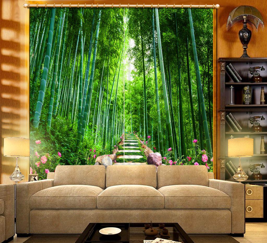 Moderne Luxus 3D Vorhänge Land Steinige Bambus Landschaft Für Schlafzimmer  Wohnzimmer Büro Hotel Moderne Vorhang