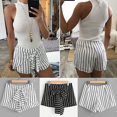 Frauen Hot Pants Sommer Casual Shorts Hohe Taille Kurze Hosen Mode