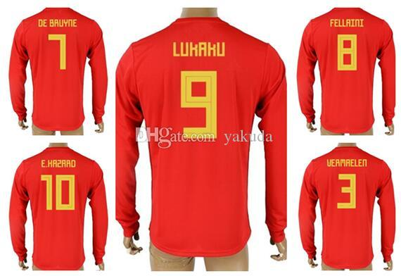 227710e6591 Discount Customized 18-19 7 De Bruyne Home Red Long Sleeve Thai ...