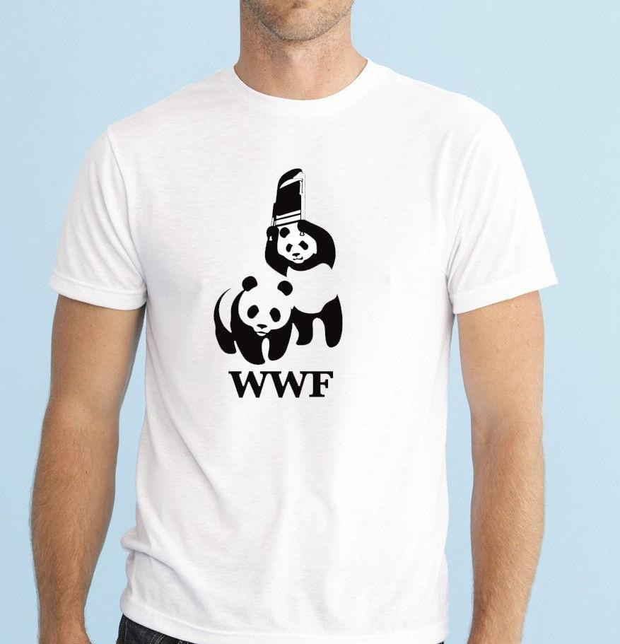 1cb8f92a824a4a Funny Wwf Panda Wrestling Save The Panda Funny Spoof Wildlife T Shirt Tee  Top Men S Fashion Short Sleeves Cotton Tops Clothing Cool Tee Shirts Cool  Tees ...