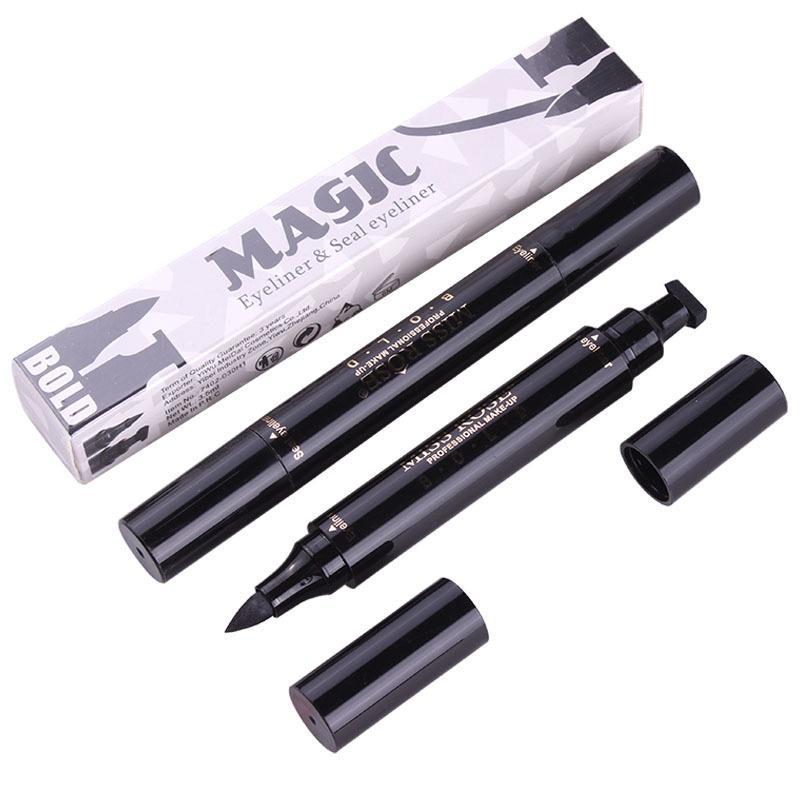 2018 Vente Chaude Mlle Rose Cachet Eyeliner Seal Crayon Professionnel Outil de Maquillage Pour Les Yeux Double Têtes Deux Têtes Eyeliner Pen