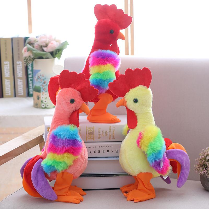 2019 Electric Chicken Plush Toy Sing Dancing Interactive Stuffed