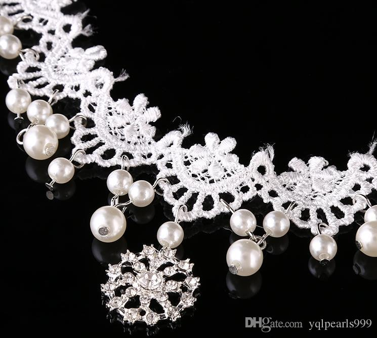 The bride's headdress frontlet lace soft chain wedding wedding dress ornaments