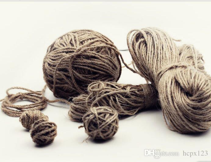 Decorative rope, linen, knitting material, tag, packaging, binding, thin  rope, hand-made hemp rope, DIY hemp rope
