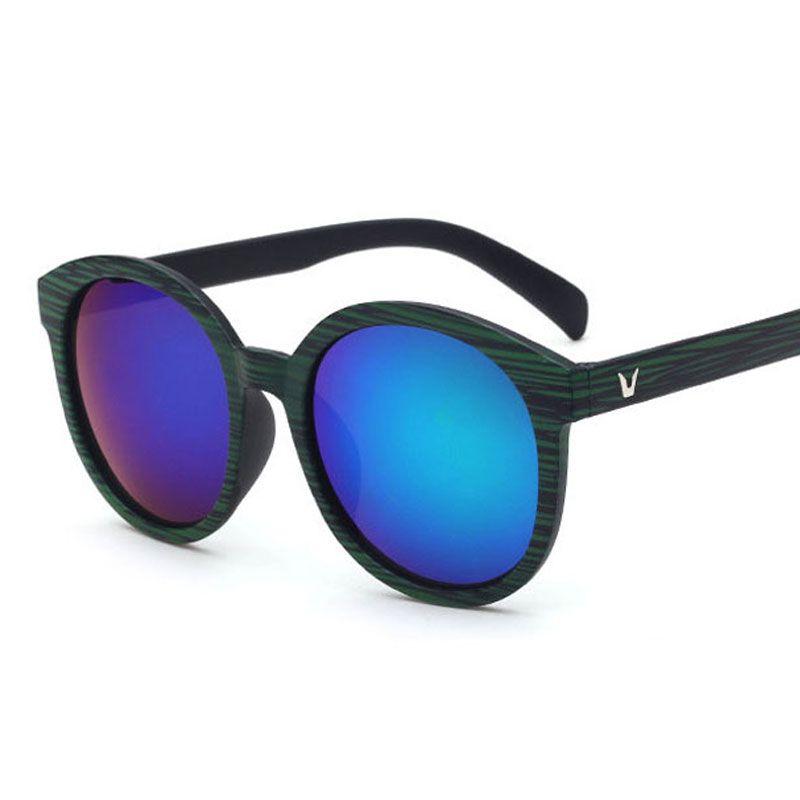 Woodsun 2018 new round wood sun glasses grain color eyewear unisex sun