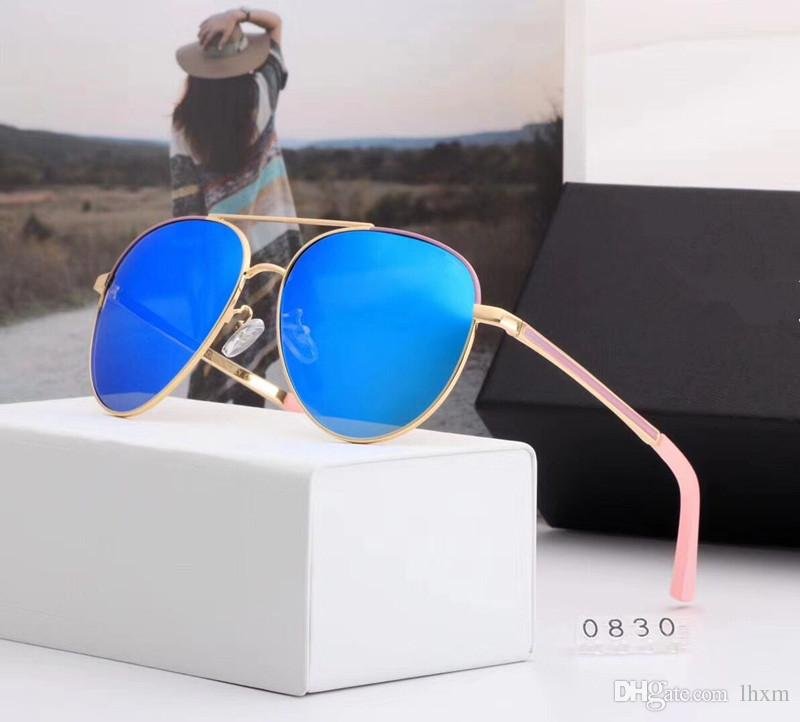 Atacado-CH0830 alta qualidade óculos de sol mulheres homens óculos de sol Speckle clássico marca Designer praia férias óculos de sol UV400 óculos de sol