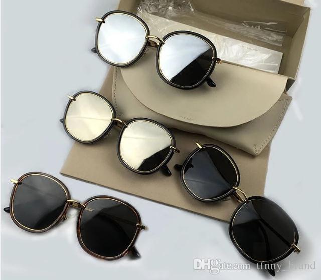 68f84340f62ad Compre Alta Qualidade V Moda Polarizada Óculos De Sol Quadro Louco Crush  Sunglasses Vintage Handmade Homens Mulheres Gm Marca De Luxo Óculos De Sol  De ...