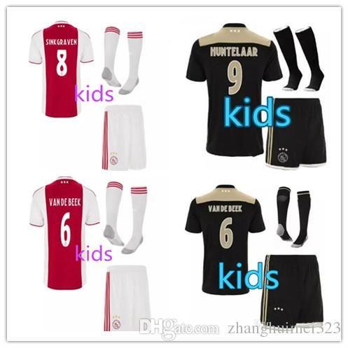 34ea46ec3 Ajax Kids Kit Blacker Soccer Jersey 18 19 Ajax FC Soccer Jerseys Away Shirt  2018 Customized  10 KLAASSEN  34 NOURI Football Uniform UK 2019 From  Suarez520