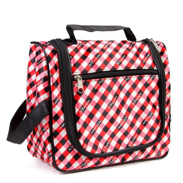 c95a2dcffc Fashion Plaid Print Toiletry Bag Women Travel Portable Waterproof Cosmetic  Bags Girls Lady Digital Seismic Package Makeup Bag  Z Cheap Beauty Products  ...