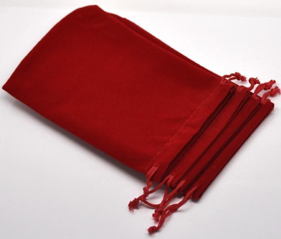 DoreenBeads Velveteen Velvet Sacs Rectangle Rouge 15cm x10cm 5 7/8