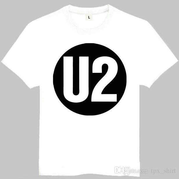 Compre Camiseta U2 Camiseta De Manga Corta De La Música Más Popular Banda  De Rock Camisetas Ropa De Impresión De Ocio Camiseta De Algodón De Calidad  A ... 9c7a4f443e75d