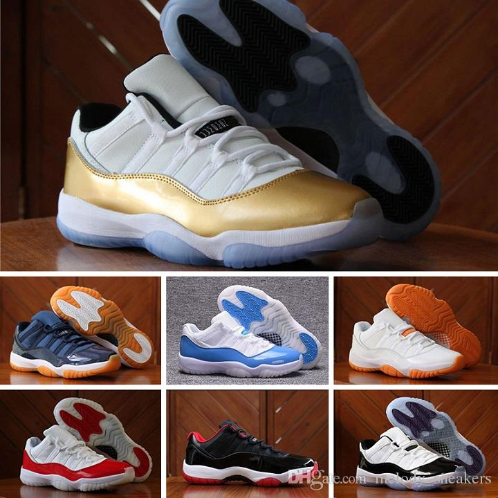 official photos d4827 55e67 Acheter 2018 Nike Air Jordan 11 Retro Running Shoes 11 Prom Night Cap Et  Robe Gym Red Chicago Bred Midnight Navy Gagner Comme 82 UNC Space Jam 45  Chaussures ...