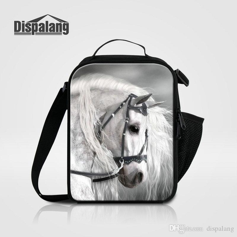 Cool Brown Horse Printing Lunch Bag For Kids Boys Animal New Fashion Picnic  Food Lunch Box Bags Women S Thermo Lancheira Insulated Lunchbox UK 2019  From ... b57df0cd5d