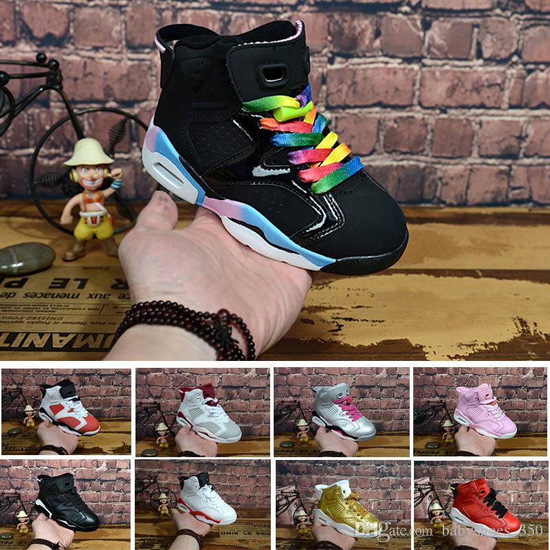 new products 247c2 b9a78 Acquista 2018 Nike Air Jordan 6 12 13 Retro Bambini 6 Scarpe Da Basket  Ragazzi Ragazze ReTro Infrarossi Carmine 6s UNC Toro Hare Oreo Marrone  Scarpe ...