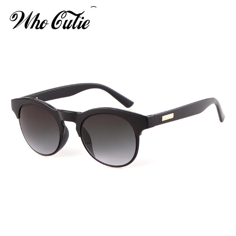Großhandel Who Cutie Halbrahmen Runde Sonnenbrille Men Fashion 2018 ...