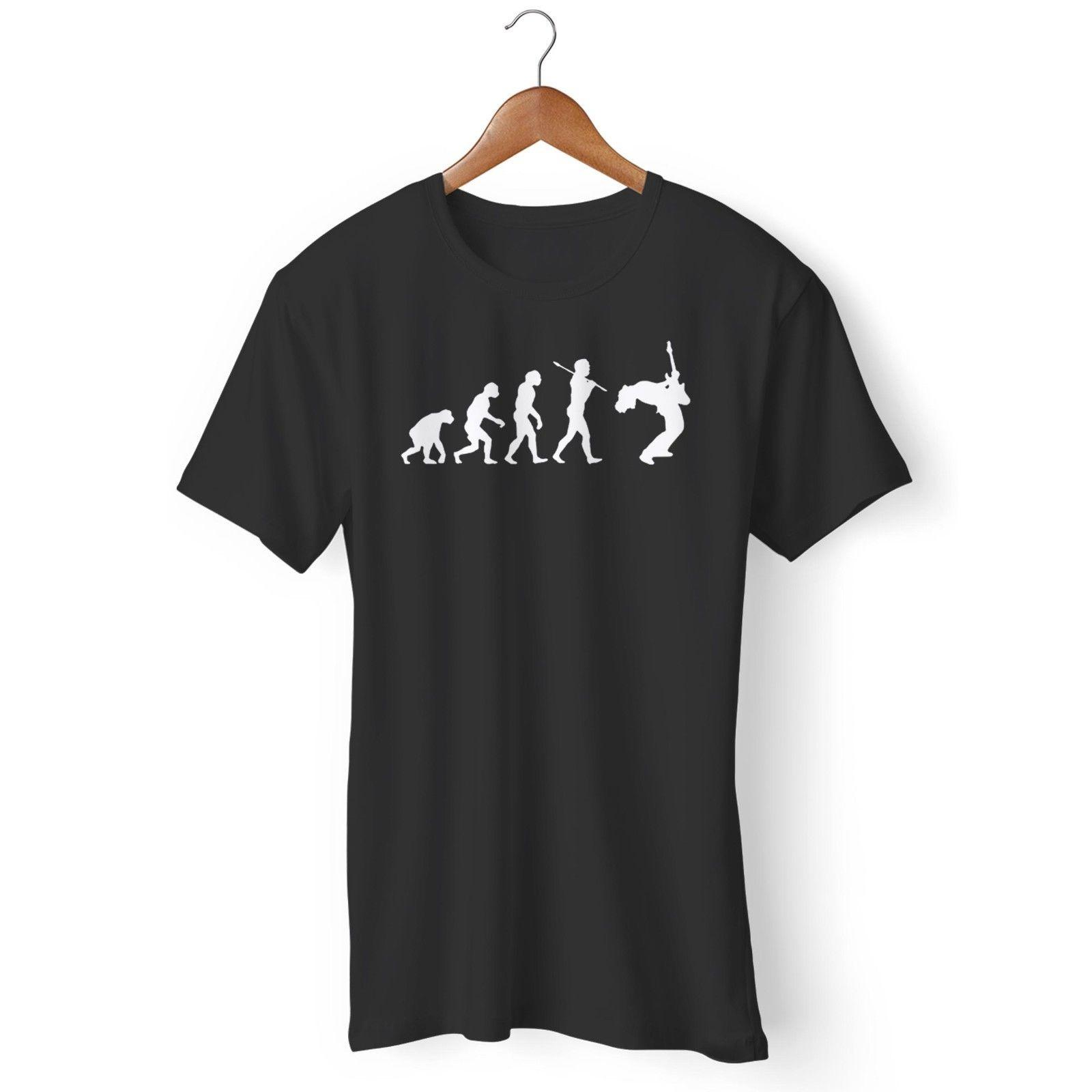 27e93520a735 Guitar Player Evolution Cool Musician Man S   Woman S T Shirt Funny Unisex  Casual Tee Gift Cool And Funny T Shirts Buy A T Shirt From Trendsspace