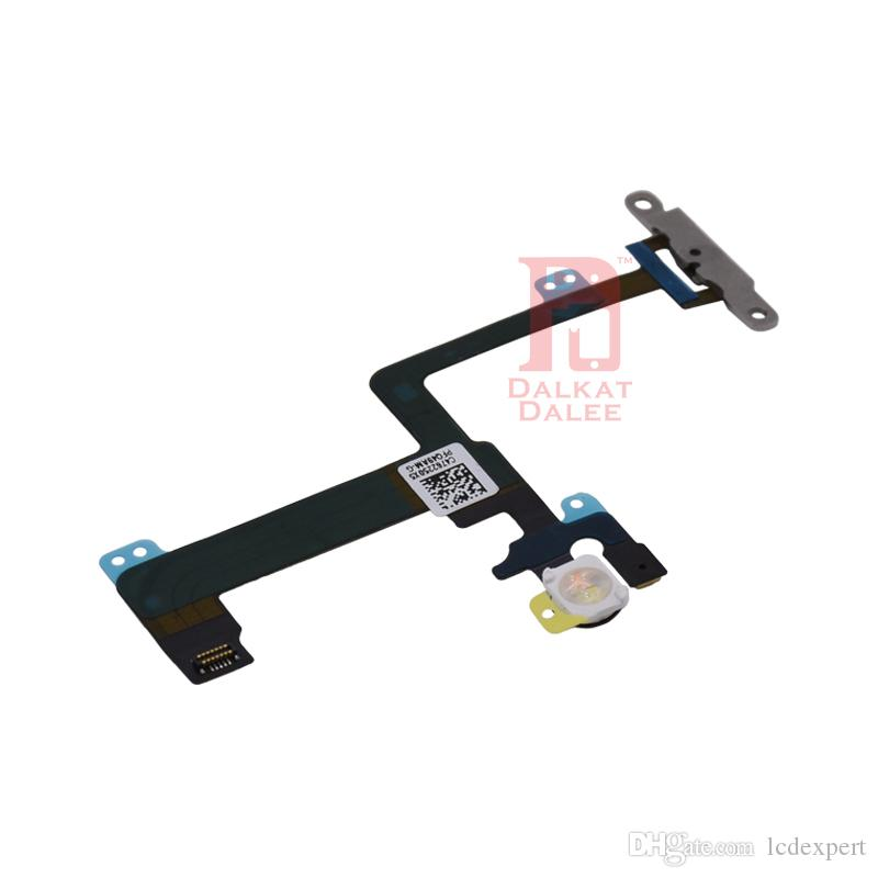 "Power Button Flex Cable with Small Metal Plate Backet Power Switch On Off for iPhone 6 Plus 5.5"" Power Supply for 6p"