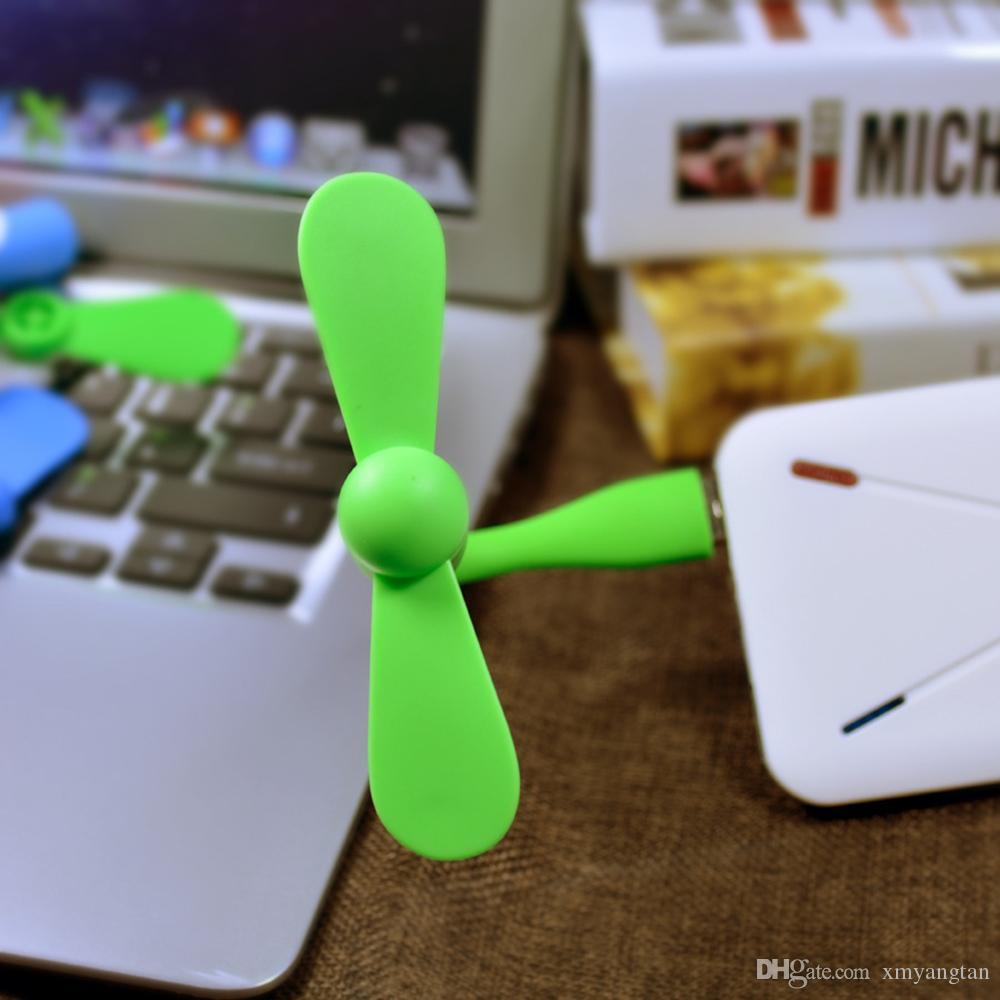 Creative USB Fan Flessibile Mini ventilatore portatile e USB gadget estivo Xiaomi Power Bank Notebook Computer