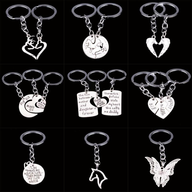 Cute Pet Butterfly Horse Deer Heart Charms Keychain Sisters Couples Keyring  Women Men Key Chain Family Friend Key Ring Gifts Leather Lanyard Keychains  For ... 3376f8b132
