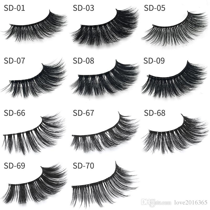 3d Mink lashes Fur Eyelashes Thick real mink HAIR false eyelashes natural for Beauty Makeup Extension fake Eyelashes with retail package