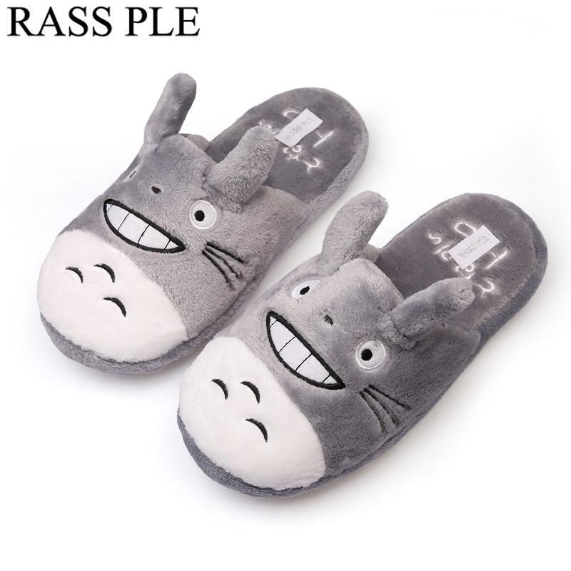 72e2206cd1796 Acheter RASS PLE Totoro Mignon Chat Dessin Animé Animal Home Pantoufle Pour  Intérieur Maison Chambre Pantufa Feminina Confortable Chaud Hiver  Chaussures De ...