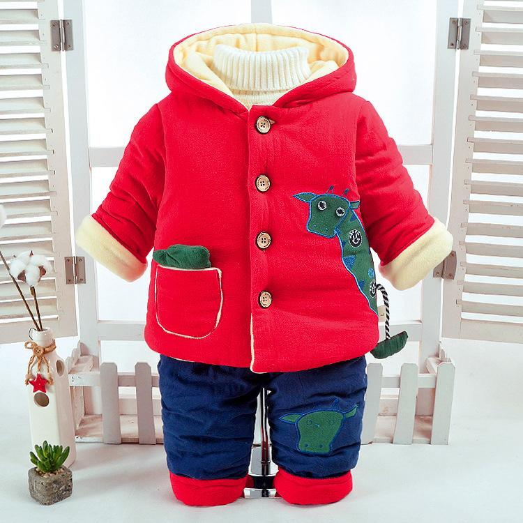 5b4c9661b1f1 2019 Baby Boy Clothes 2018 Winter Wool Super Warm Thickened Cartoon ...