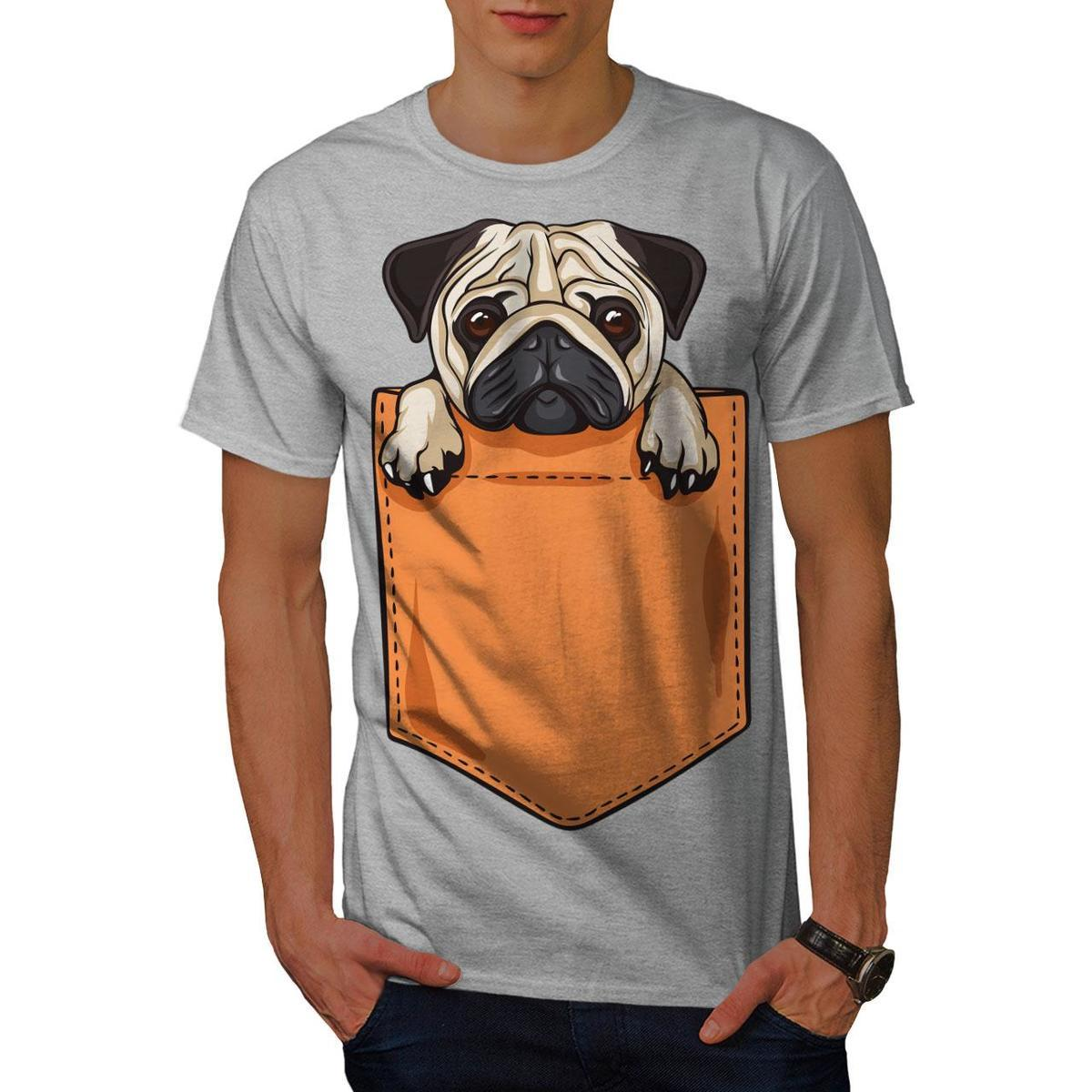 18cc2198 Wellcoda Pug Puppy In Pocket Mens T Shirt, Cute Graphic Design Printed Tee  Design Your Own T Shirts Womens Shirt From Amesion56, $12.08| DHgate.Com
