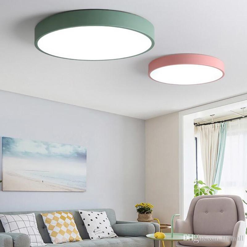 Moderne plafoniere a LED per camera da letto rotonda Super Thin 5cm  plafoniera per 8-20 metri quadrati casa moderna cucina apparecchio di ...