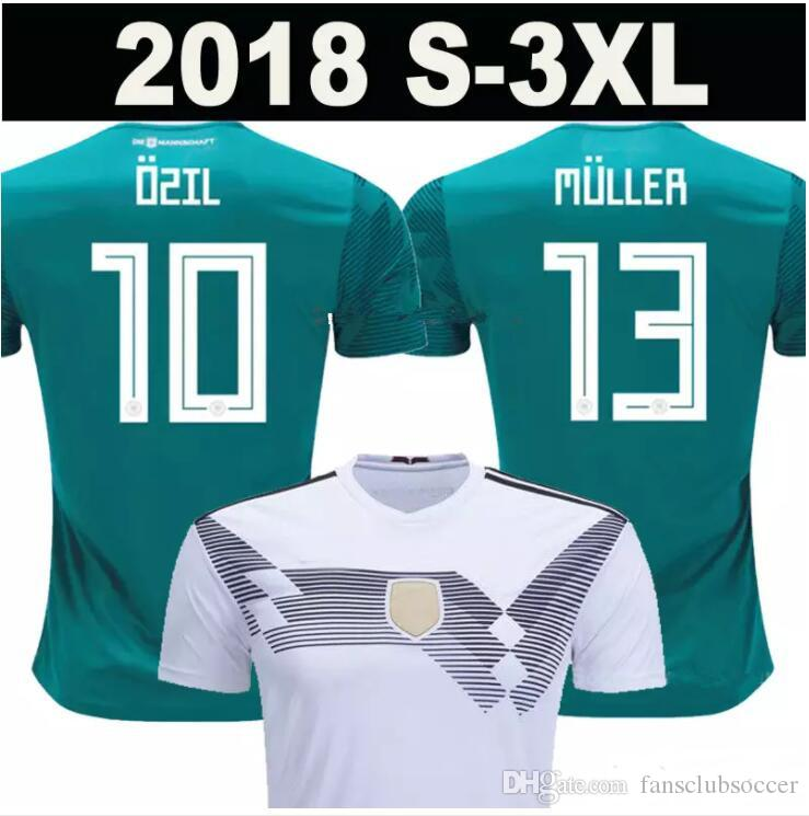 06e2450ea 2019 Germany Soccer Jersey World Cup 2018 2019 MULLER OZIL KROOS HUMMELS  WERNER Shirt DRAXLER Jersey Football Shirt Fans Player Version Jersey From  ...
