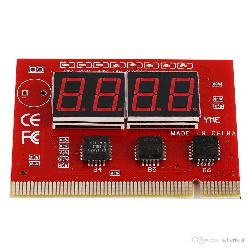 Computador Desktop PC Motherboard LEVOU 4 Dígitos de Análise de Diagnóstico Cartão POST PCI de Alta Qualidade