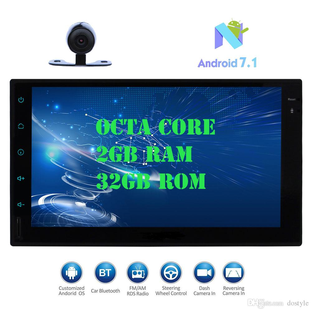 "Eincar Android 7.1 Car Pad Tablet PC Radio Stereo HeadUnit Octa-core 2GB+32GB Autoradio Double Din Auto GPS Navi In Dash 7""1080P"