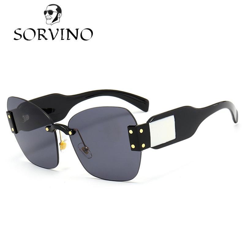 Compre Sorvino 90s Sin Montura Gafas De Sol Cuadradas Mujeres ...