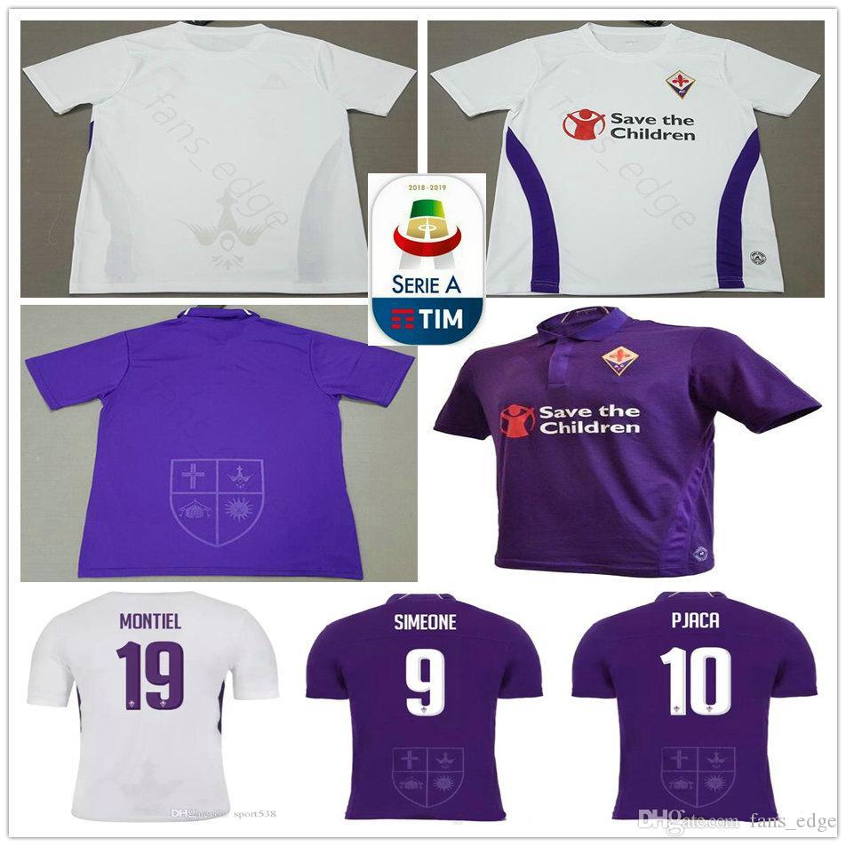 2019 2019 Fiorentina Soccer Jersey 10 Pjaca 9 Simeone 8 Gerson 20