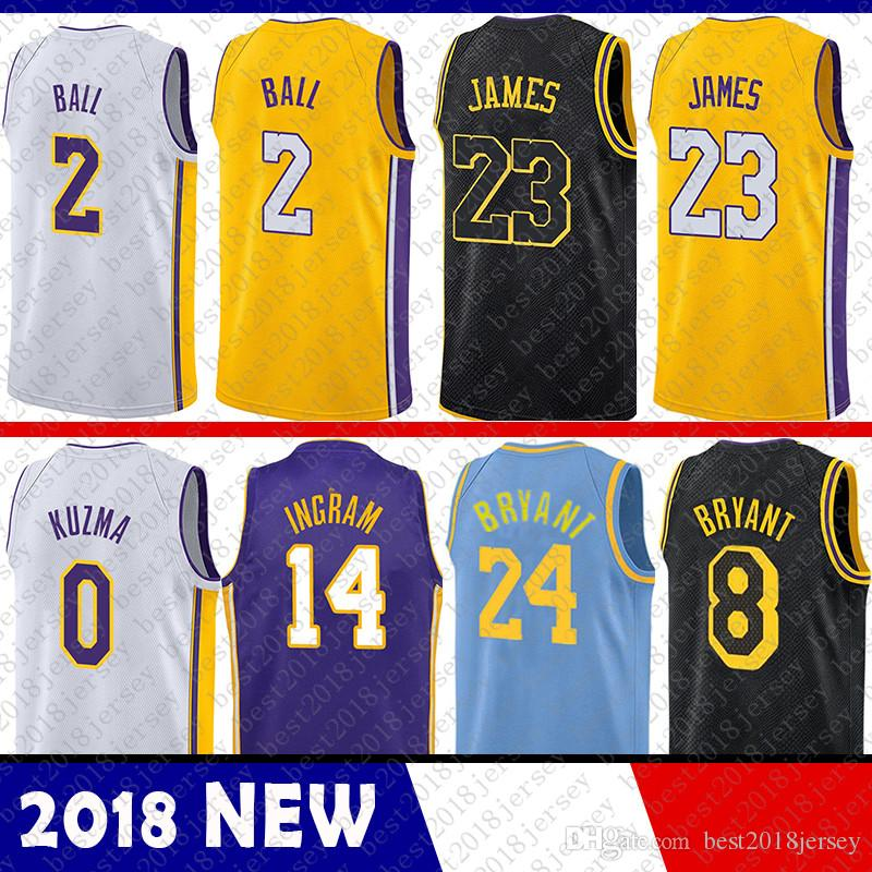 17e1fc3a8 ... promo code for 23 lebron james 2 lonzo ball 0 kyle kuzma los angeles lakers  jersey
