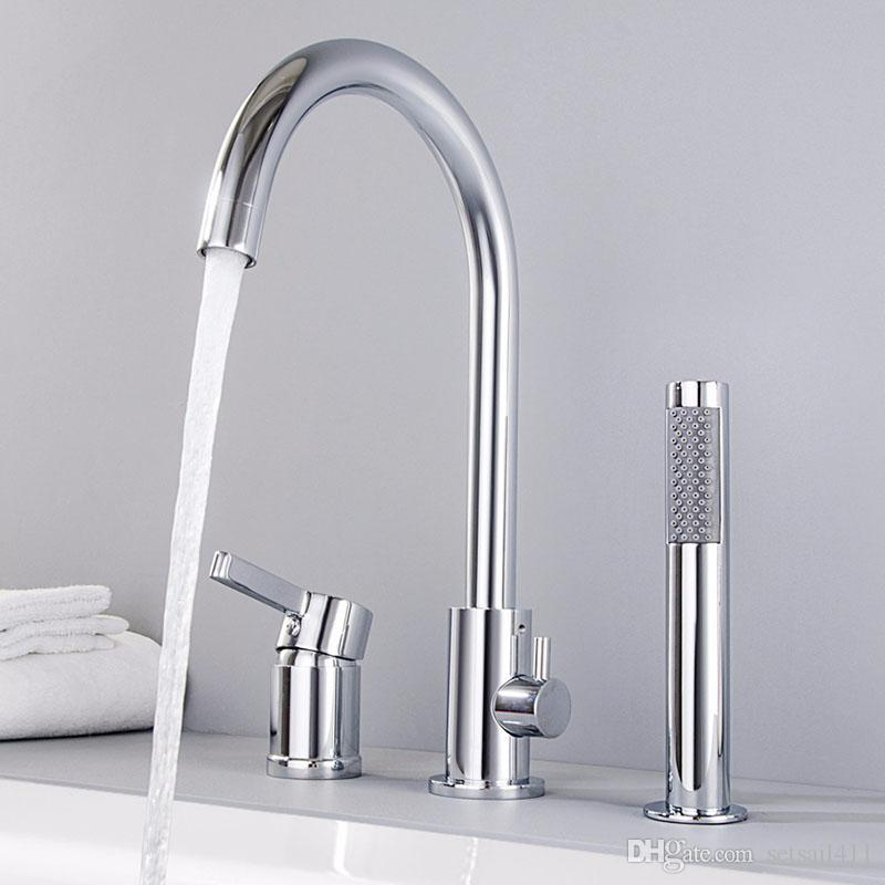 Bathroom Shower Faucets Copper Bath Faucet Mixer Tap With Rainfall ...