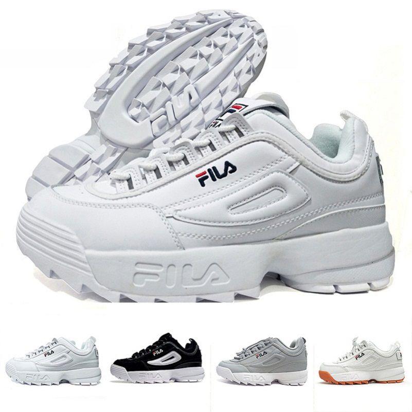 cdb5aa4502f77 Compre 2018 Original Blanco Negro Gris Amarillo Fila II 2 Mujeres Hombres  ARCHIVO Sección Especial Deportes Zapatilla Casual Zapatos Aumentaron 36 44  A ...