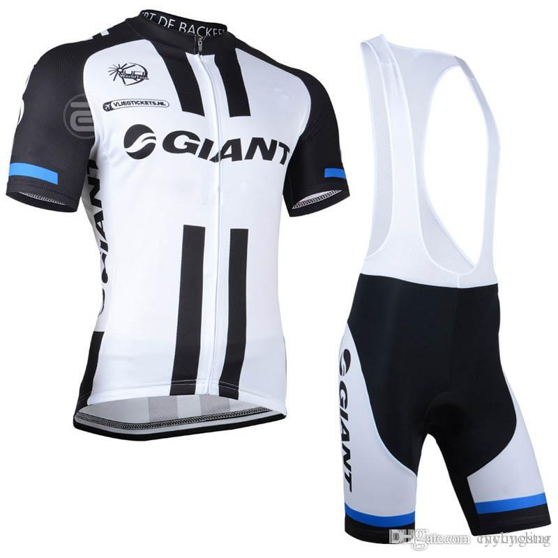 2018 Summer Pro GIANT Cycling Jersey MTB Bike Short Sleeve Clothing Set Men  Quick-Dry Bicycle Wear Set Bib Shorts Black 81803Y Giant Cycling Jerseys  Bike ... 00ce86bf8