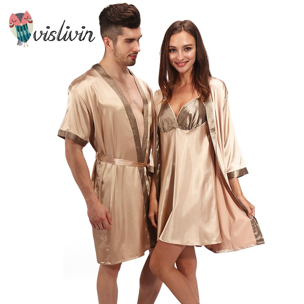 6550a6da1c40 2019 Vislivin Men Women S Pajamas Nightwear Sexy Sleepwear Lingerie  Sleepshirts Nightgowns Sleeping Dress Good Nightdress Lover S From Maoyili