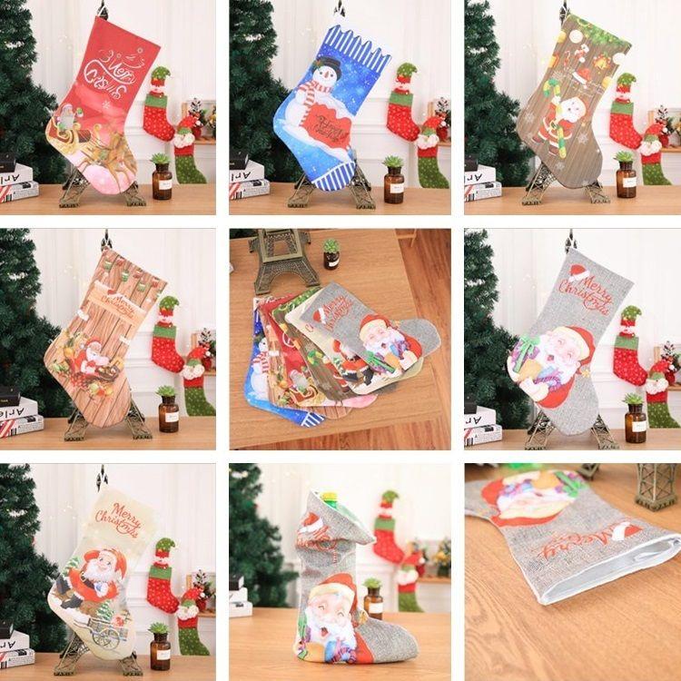 Großhandel Weihnachtsstrümpfe New Style Kamin Dekorationen ...