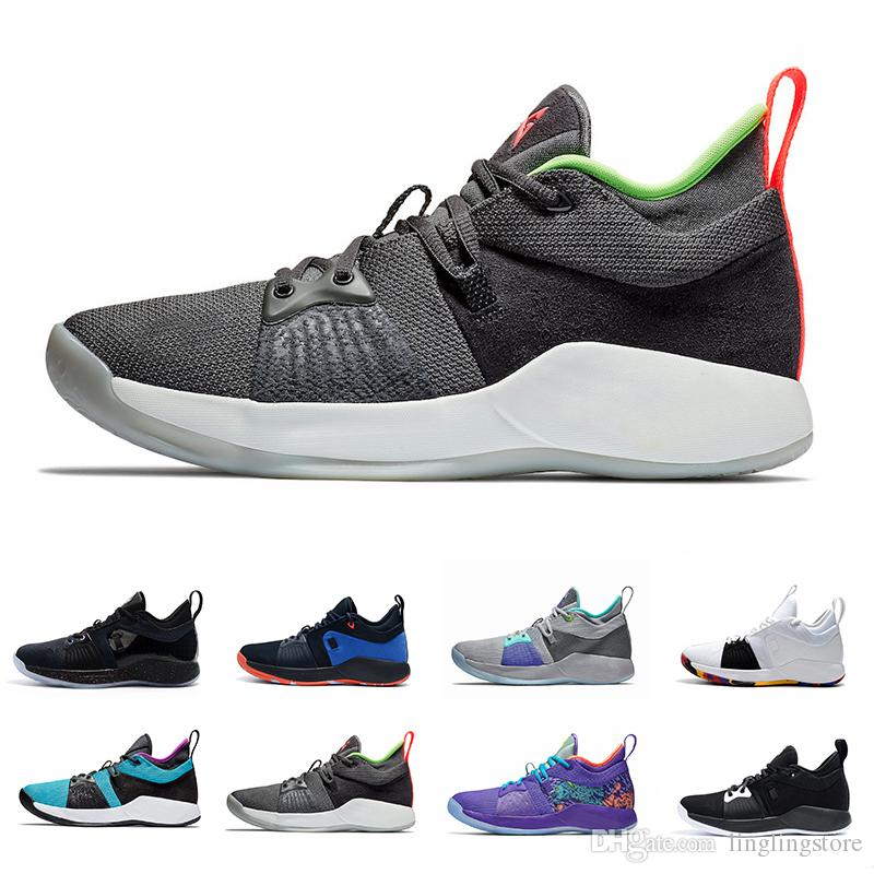 separation shoes 9cbb2 195dd New Paul George 2 PG II mens basketball shoes Pure Platinum Hot Punch  Playstation The Bait II Mamba Mentality Blue Lagoon sports sneakers
