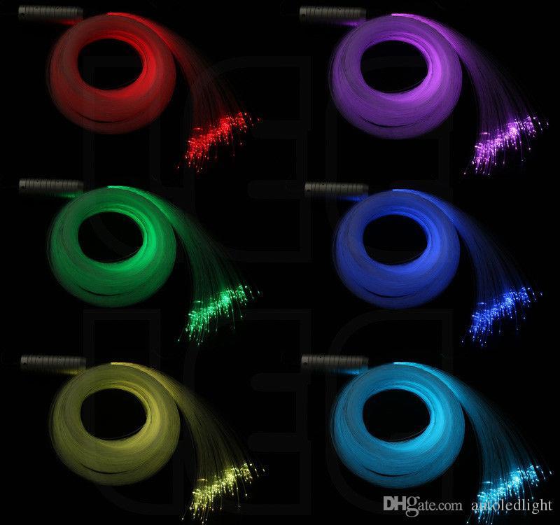 Car use DC12V 6W RGB LED Fiber Optic Star Ceiling Kit Light led 0.75m 2m