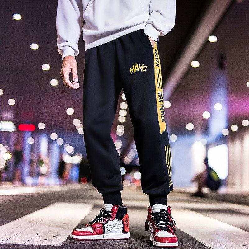 Acquista Pantaloni Della Tuta Sportivi Larghi Grassi Popolari Logo Plus  Size Pantaloni Elastici In Vita Di Bei Pantaloni Hip Hop Convergenti Cadono  A  41.21 ... a33c69bd07f7