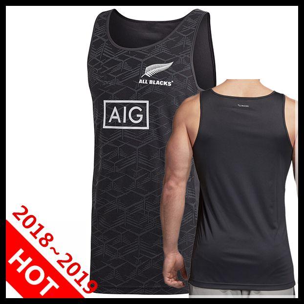 4cafaebcf68 All Blacks Black Singlet Jersey 2018 2019 New Zealand Super Rugby ...